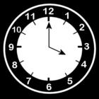 Dibujo para colorear Reloj a las 4