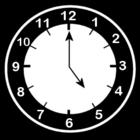 Dibujo para colorear Reloj a las 5