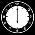 Dibujo para colorear Reloj a las 6