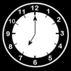 Dibujo para colorear Reloj a las 7