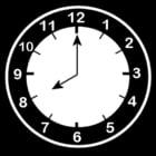 Dibujo para colorear Reloj a las 8