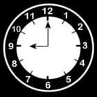 Dibujo para colorear Reloj a las 9
