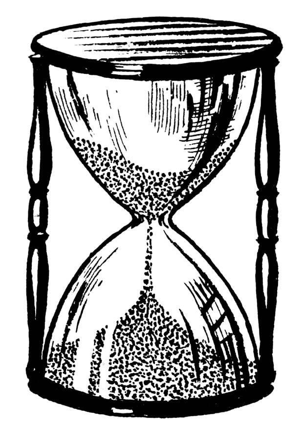 Dibujo para colorear reloj de arena  Img 18856