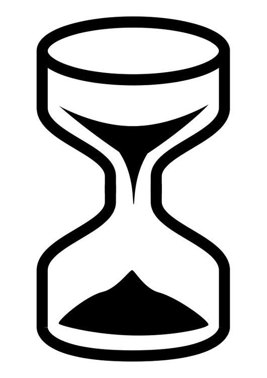 dibujo para colorear reloj de arena img 27121