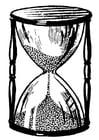 Dibujo para colorear reloj de arena
