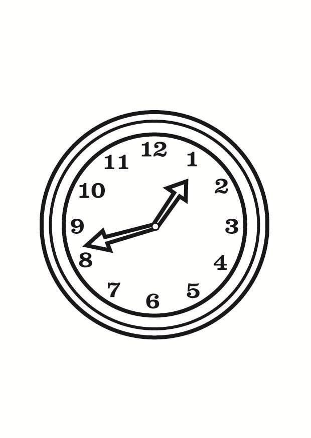 Dibujo para colorear reloj img 23360 for Imagenes de relojes