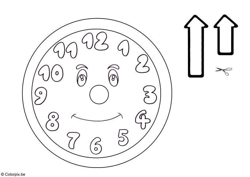 Dibujo para colorear Reloj [431x305]