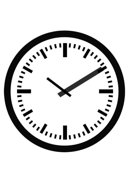 Dibujo para colorear reloj img 19692 for Imagenes de relojes