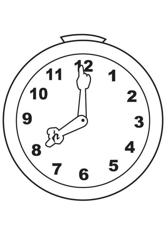 Dibujo para colorear Reloj  Img 7100
