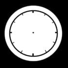 Dibujo para colorear Reloj vacío
