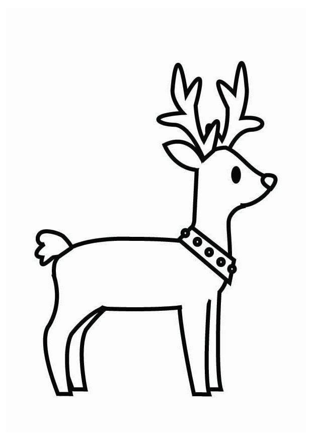 Dibujo para colorear reno de navidad img 26704 - Renos para dibujar ...