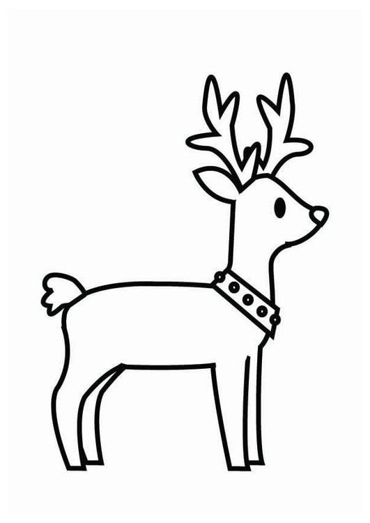 Dibujo para colorear reno de navidad img 26704 - Dibujos de pintar de navidad ...