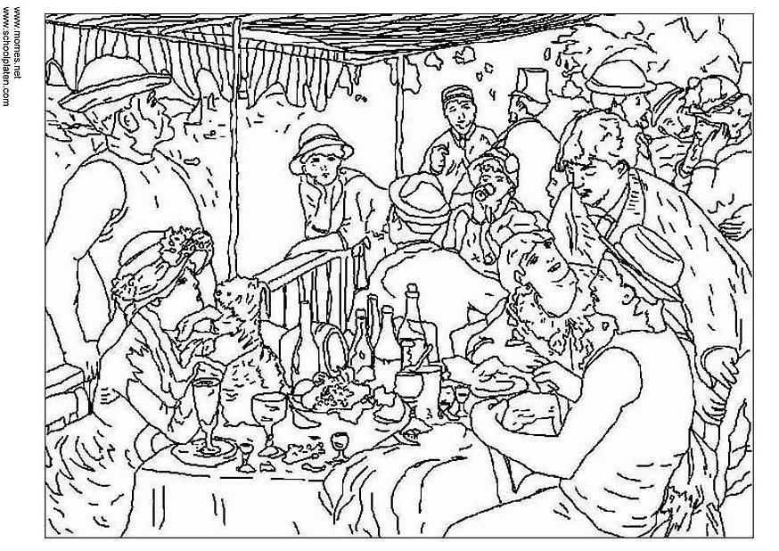 Dibujo para colorear Renoir Img 3123