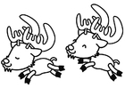 Dibujo para colorear renos