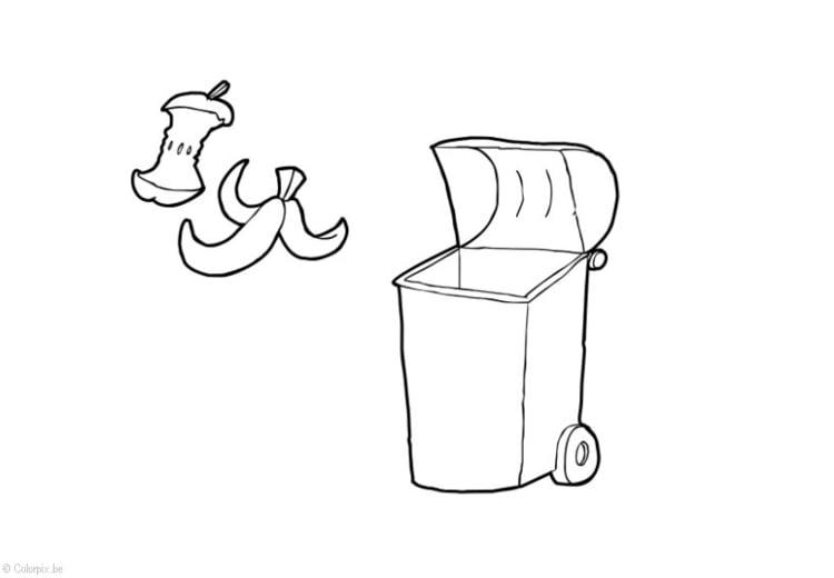 Dibujo Para Colorear Residuos Organicos Dibujos Para Imprimir Gratis