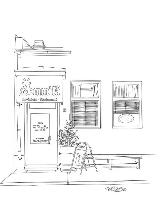 Dibujo Para Colorear Restaurante Img 28699