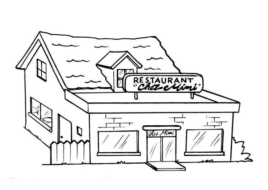 Dibujo Para Colorear Restaurante Img 8204