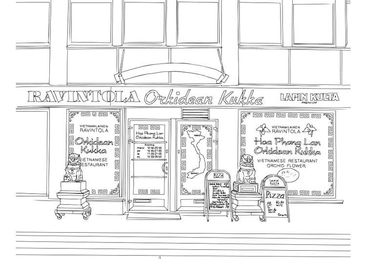 Dibujo Para Colorear Restaurante Vietnamita Img 28702
