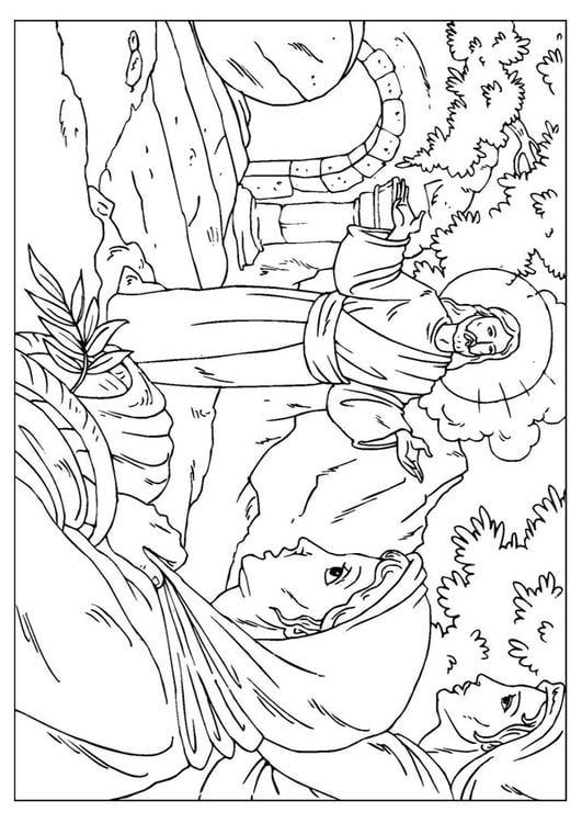 Dibujo para colorear resurrección de Jesús - Img 25921