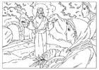 Dibujo para colorear resurrección de Jesús