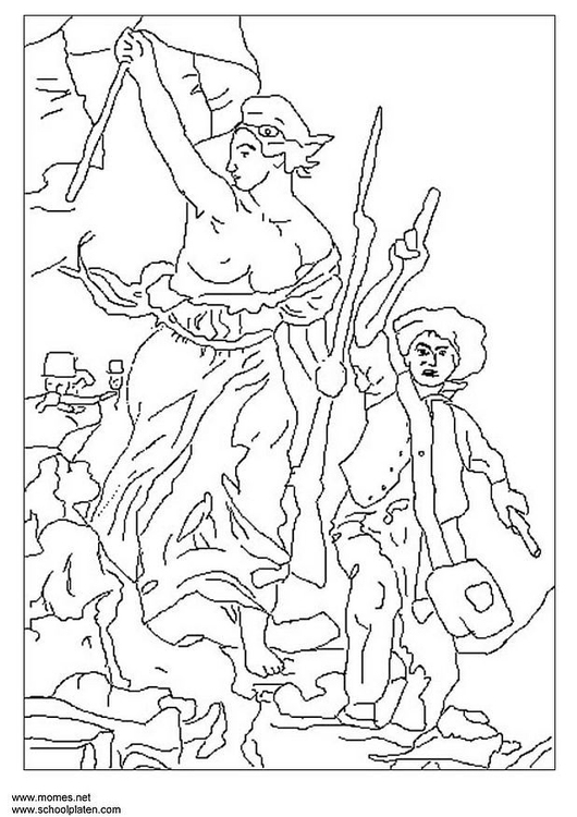 Dibujo para colorear revoluci n francesa img 6756 for Coloring pages art masterpieces