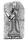 Dibujo para colorear rey asirio