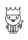 Dibujo para colorear rey