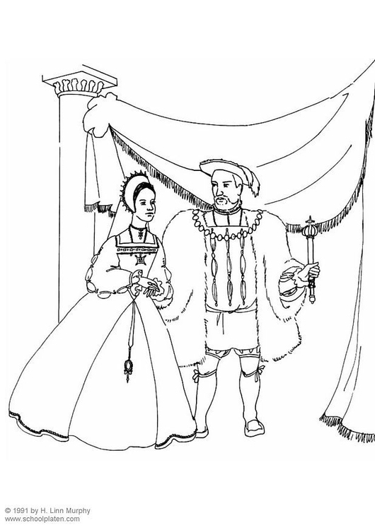 Dibujo Para Colorear Rey Y Reina Img 3833