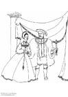 Dibujo para colorear Rey y reina