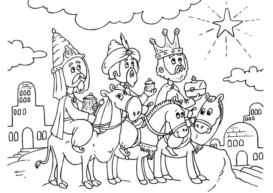 Blog para una Navidad Feliz: Dibujos Reyes Magos para colorear