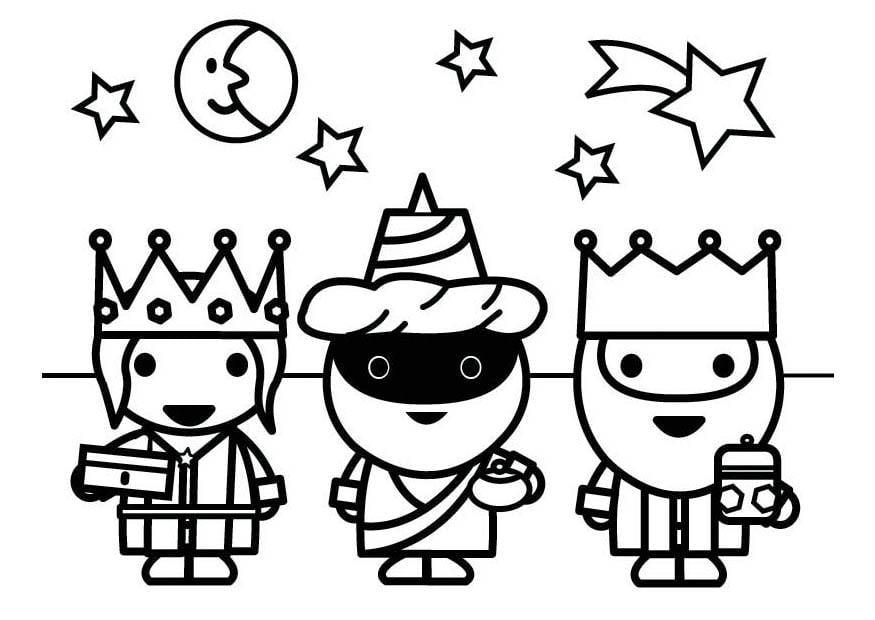 Dibujos Para Colorear De Los Tres Reyes Magos: Dibujo Para Colorear Reyes Magos