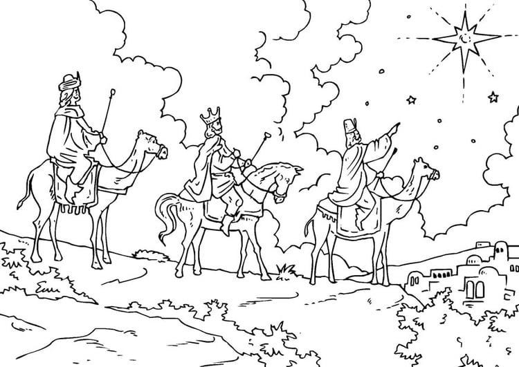 Dibujo Para Colorear Reyes Magos Dibujos Para Imprimir Gratis