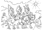 Dibujo para colorear Reyes Magos