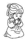 Dibujo para colorear rezar