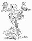 Dibujo para colorear Richard Neville, conde de Warwick