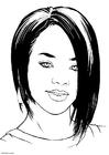 Dibujo para colorear Rihanna