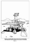 Dibujo para colorear Robot reconociendo marte