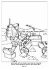 Dibujo para colorear Robots ayudando a los astronautas
