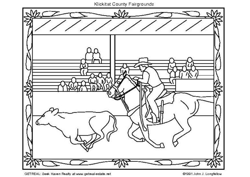 Dibujo De Chilena Para Colorear: Dibujo Para Colorear Rodeo Americano