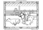 Dibujo para colorear Rodeo americano