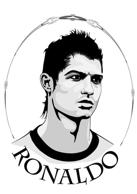 Dibujo para colorear Ronaldo - Img 24752