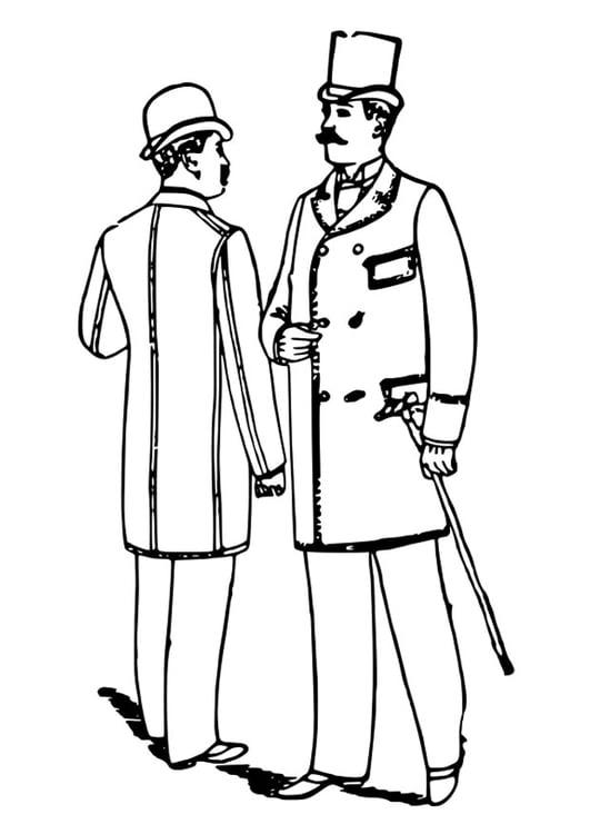 Dibujo para colorear ropa de caballero 1892 - Img 29443