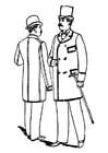 Dibujo para colorear ropa de caballero 1892