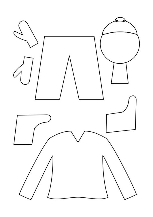 Dibujo para colorear ropa de invierno - Img 29334