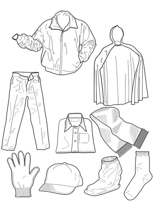 Dibujo para colorear ropa - Img 18962