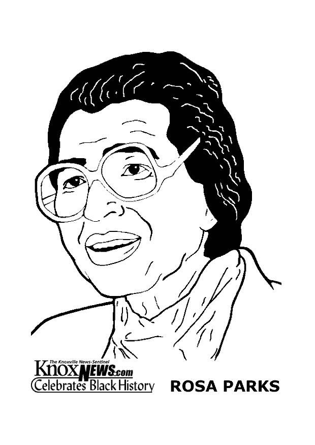 Dibujo para colorear Rosa Parks Img 14281