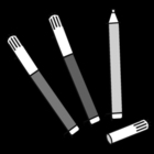 Dibujo para colorear Rotuladores