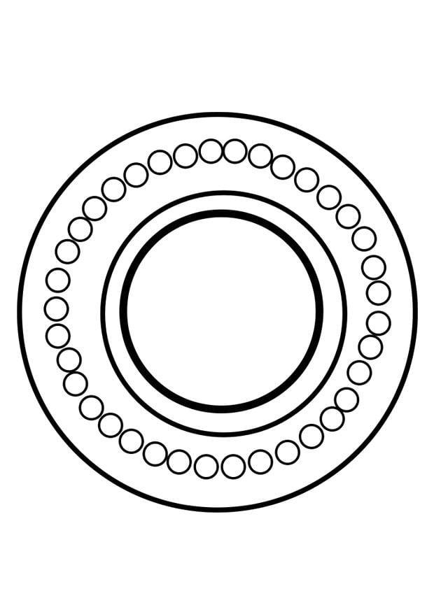 Dibujo para colorear rueda dharma   Img 25625
