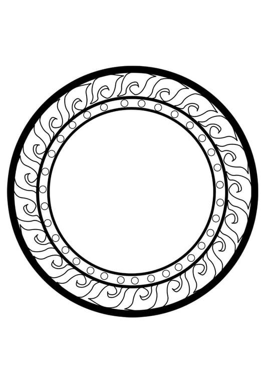 Dibujo para colorear rueda dharma - Img 25631
