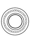 Dibujo para colorear rueda dharma